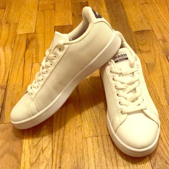 Adidas zapatos de malla blanca nube poshmark espuma tamaño 85